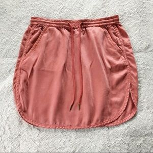 Max Jeans Peach Elastic Waist Mini Skirt